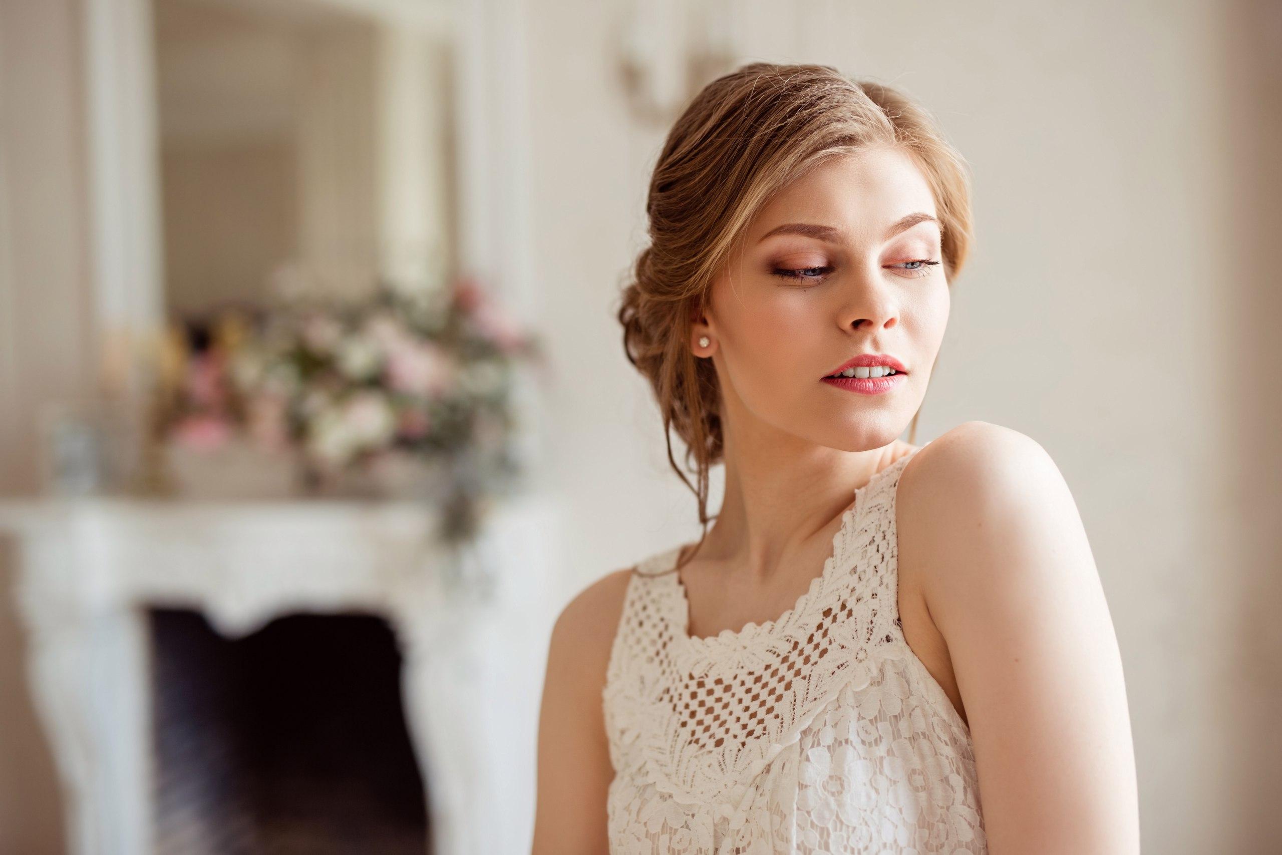 Свадебный макияж в розовых тонах