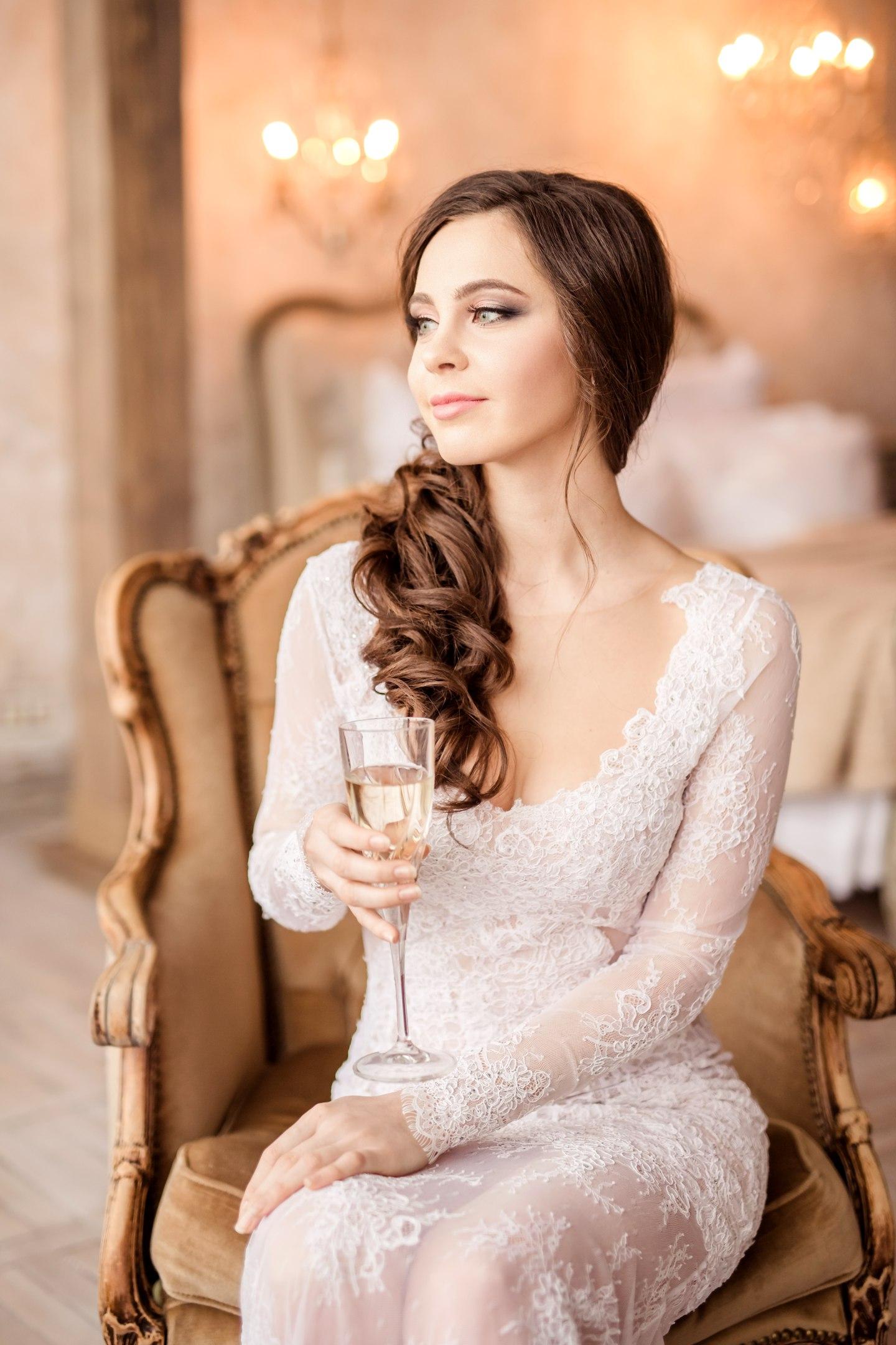 классический свадебный макияж фото