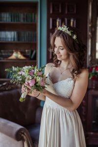 Макияж невесты брюнетки
